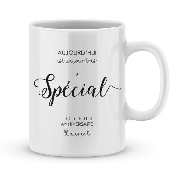 Mug personnalisé avec un prénom anniversaire spécial