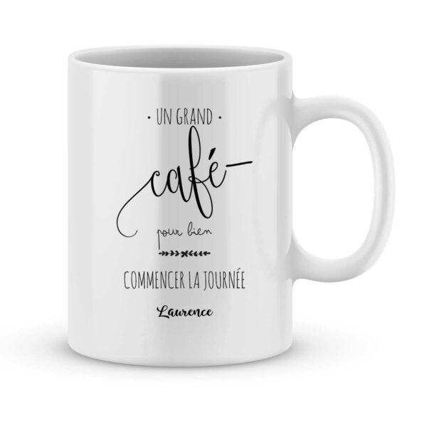 Mug personnalisé avec un prénom Un grand café