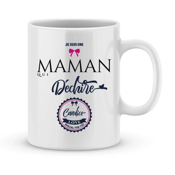 Mug personnalisé avec un prénom Maman qui déchire