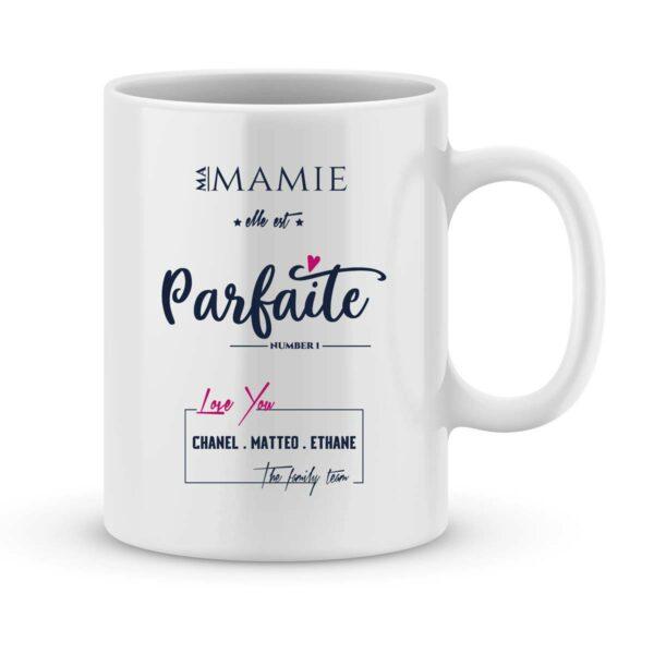 Mug personnalisé avec un prénom Mamie est parfaite