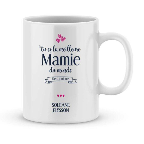 Mug personnalisé avec un prénom meilleure mamie