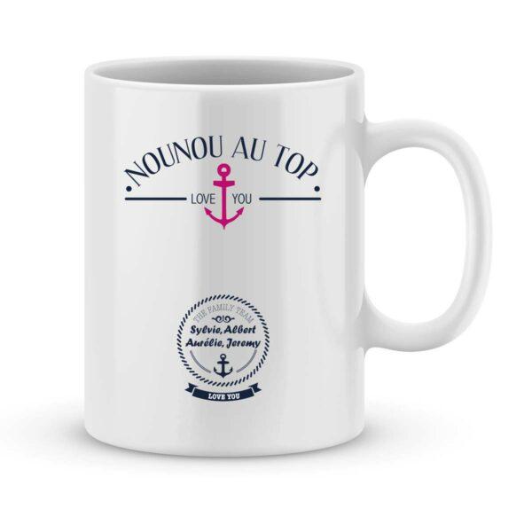 Mug personnalisé avec un prénom meilleure nounou au top