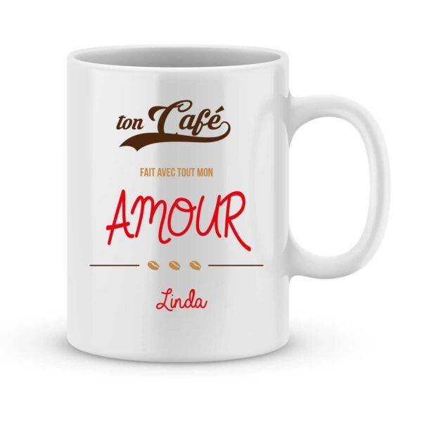 Mug personnalisé avec un prénom avec tout mon amour