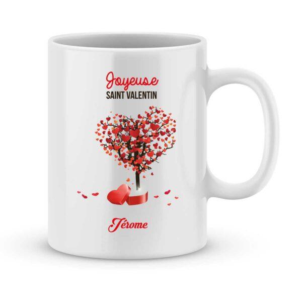 Mug personnalisé avec un prénom joyeuse saint valentin