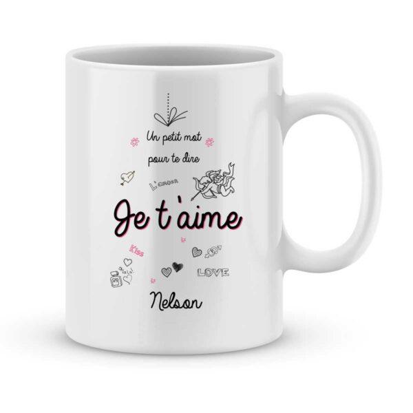 Mug personnalisé avec un prénom un petit mot