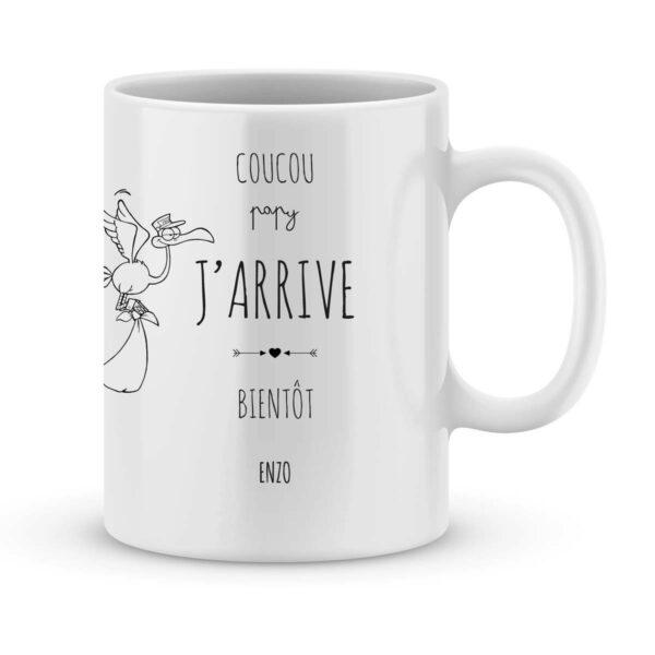Mug personnalisé avec un prénom coucou papy