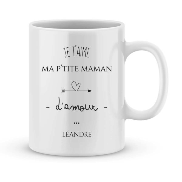 Mug personnalisé avec un prénom je t'aime maman