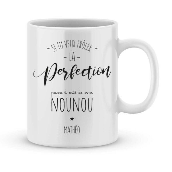 Mug personnalisé avec un prénom nounou parfaite
