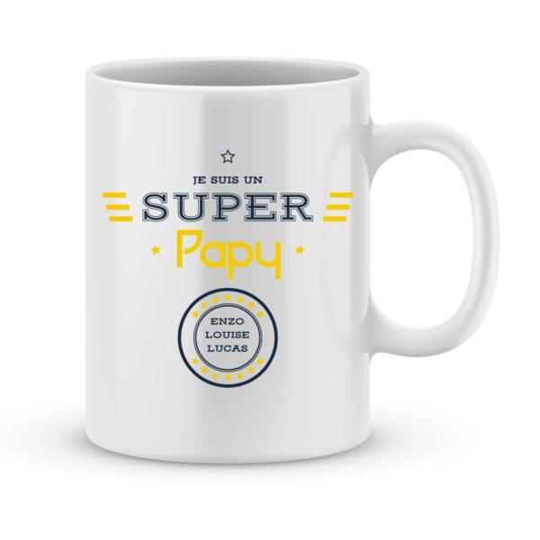 Mug personnalisé avec un prénom je suis un super papy