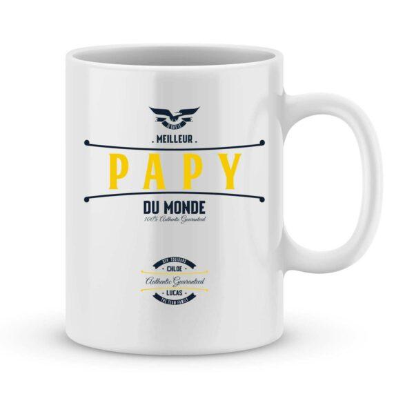 Mug personnalisé avec un prénom meilleur papy