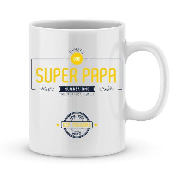 Mug personnalisé avec un prénom number one papa