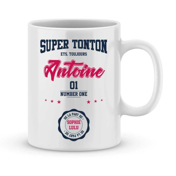 Mug personnalisé avec un prénom super tonton