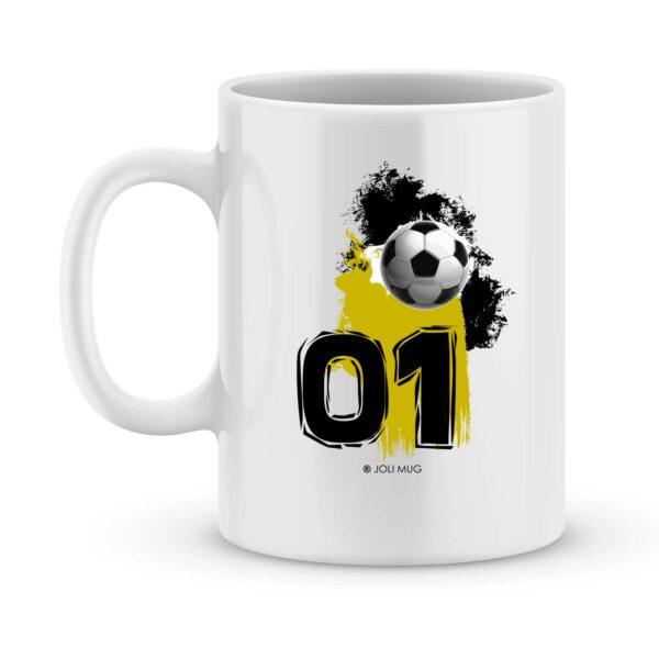Mug personnalisé avec un prénom foot angers