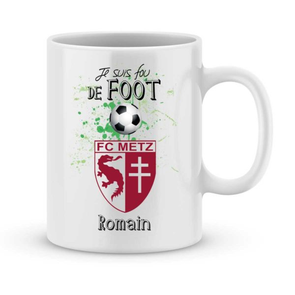 Mug personnalisé avec un prénom foot Metz