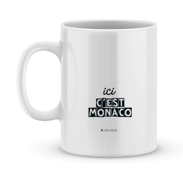 Mug personnalisé avec un prénom foot Monaco