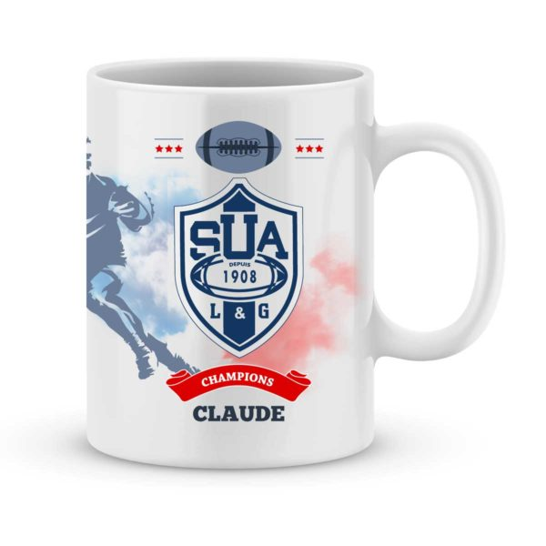 Mug personnalisé rugby top 14 Sporting Union Agen