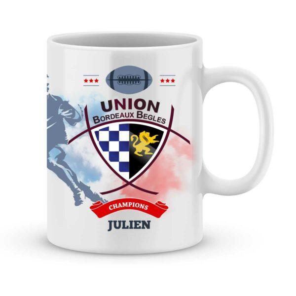 Mug personnalisé rugby top 14 Union Bordeaux Bègles