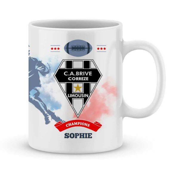 Mug personnalisé rugby top 14 Club Athlétique Brive Corrèze