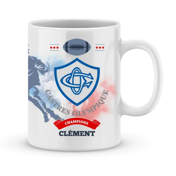 Mug personnalisé rugby top 14 Castres Olympique