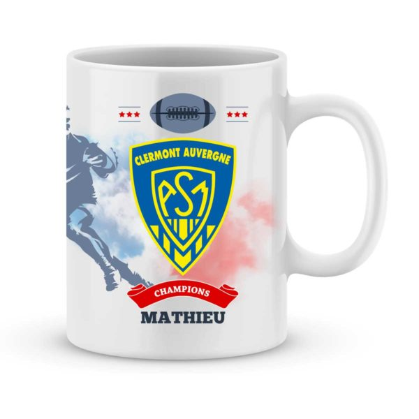 Mug personnalisé rugby top 14 ASM Clermont Auvergne