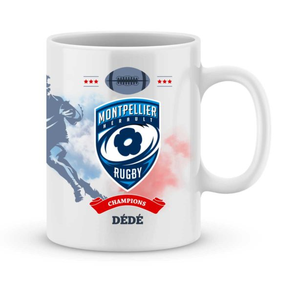 Mug personnalisé rugby top 14 Lyon Montpellier Hérault Rugby