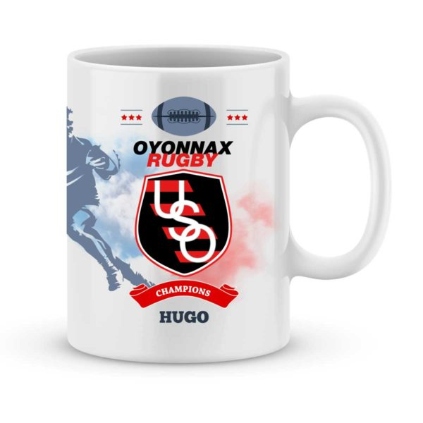 Mug personnalisé rugby top 14 Oyonnax Rugby