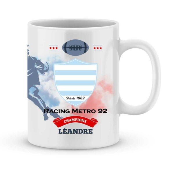 Mug personnalisé rugby top 14 Racing 92