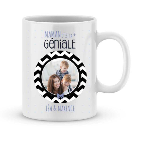 Mug personnalisé avec prénom et photo maman c'est la plus géniale