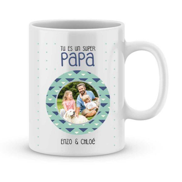 Mug personnalisé avec prénom et photo super papa