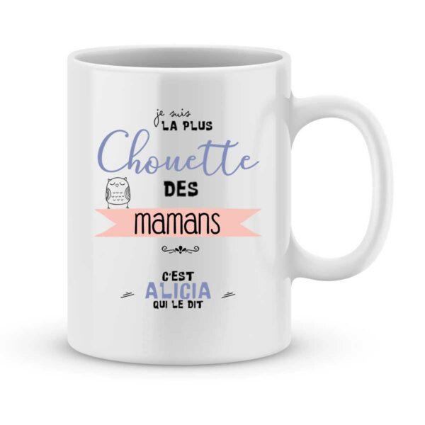 Mug personnalisé avec un prénom la plus chouette des mamans