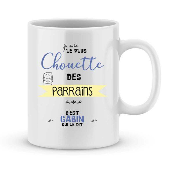 Mug personnalisé avec un prénom le plus chouette des parrains