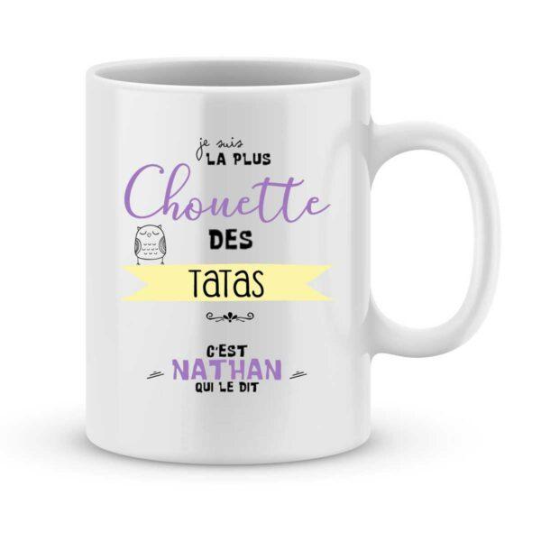 Mug personnalisé avec un prénom la plus chouette des tatas