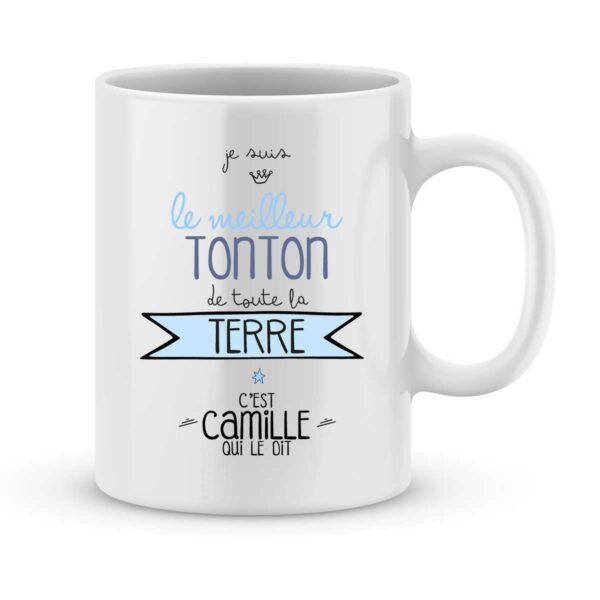 Mug personnalisé avec un prénom meilleur tonton de la terre