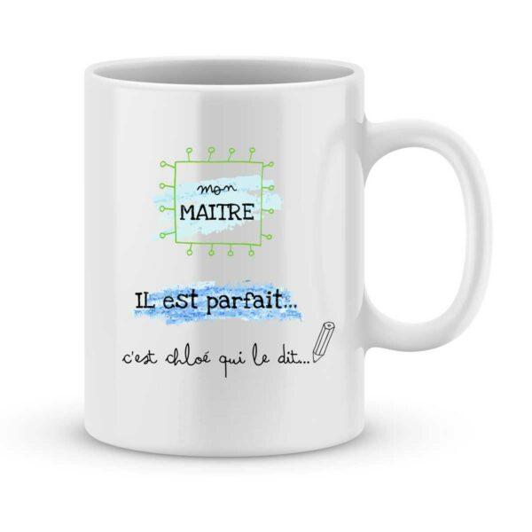 Mug personnalisé avec un prénom maître parfait