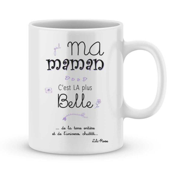 Mug personnalisé avec un prénom maman c'est la plus belle