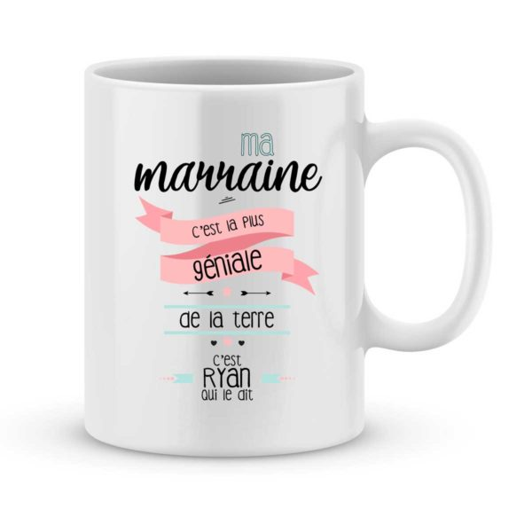 Mug personnalisé avec un prénom ma marraine est géniale