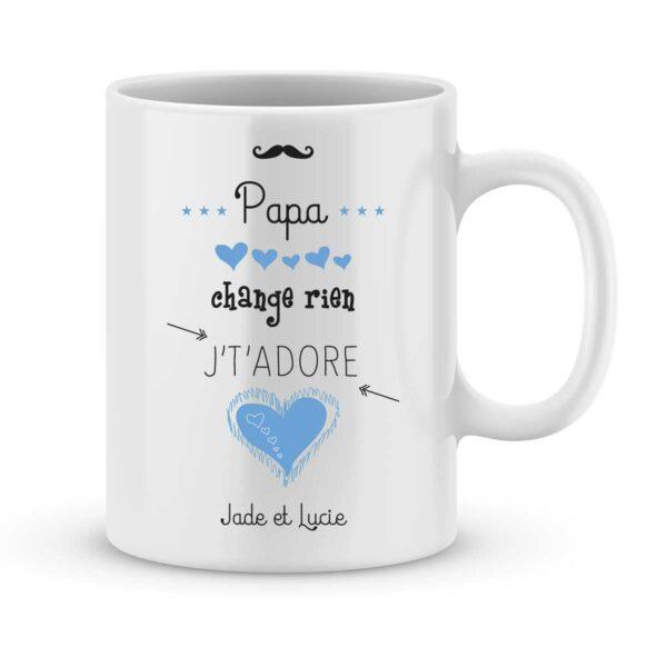 Mug personnalisé avec un prénom papa je t'adore