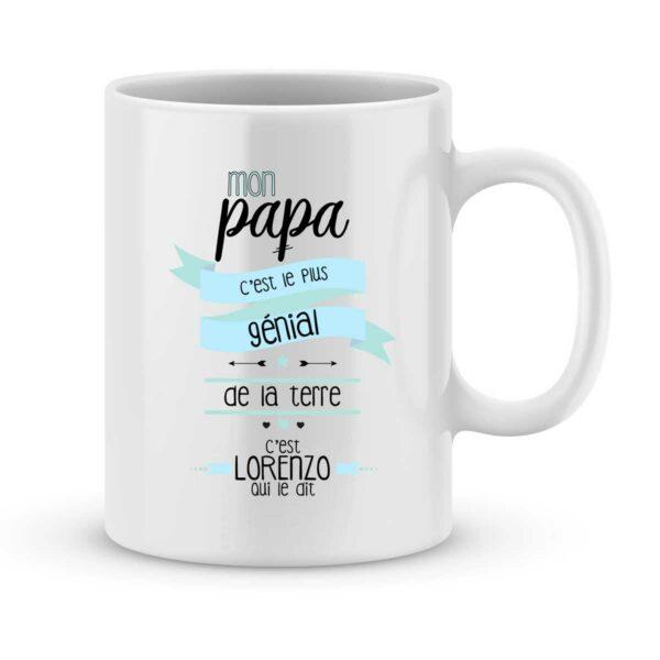 Mug personnalisé avec un prénom papa est génial