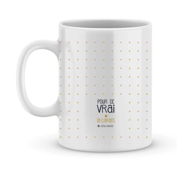Cadeau nounou mug nounou en or - Idée cadeau nounou