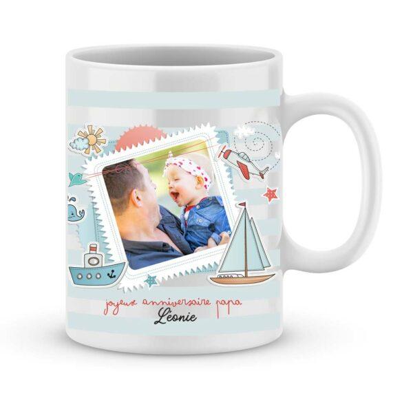 """Cadeau anniversaire Papa avec photo """"petit marin"""""""