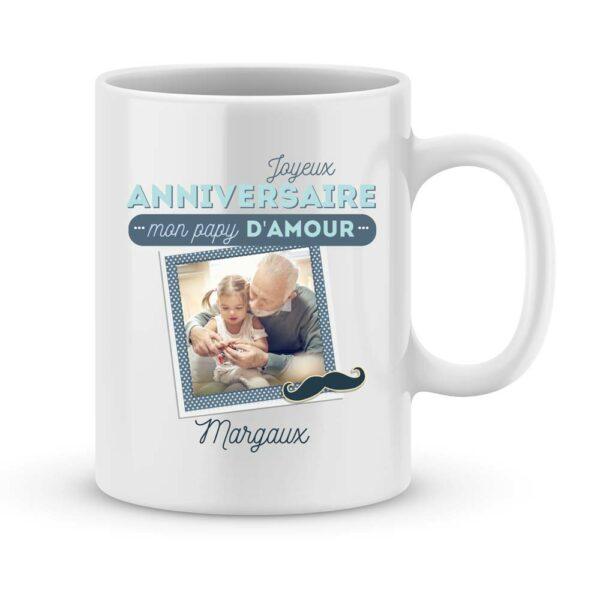 Cadeau anniversaire papy d'amour - Mug personnalisé photo