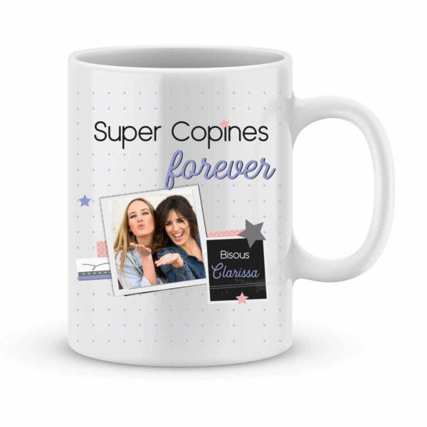 Mug personnalisé Super Copines Forever avec photo et prénom