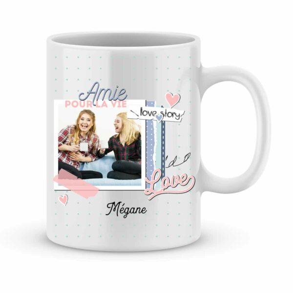 Mug personnalisé amies pour la vie avec photo et prénom