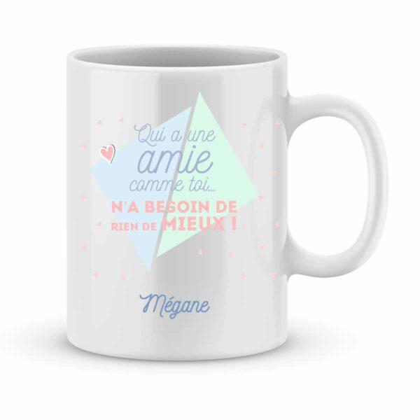 Mug personnalisé avec un prénom qui a une amie comme toi