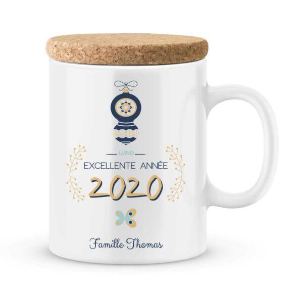 Cadeau personnalisé bonne année. Mug meilleurs voeux 2020