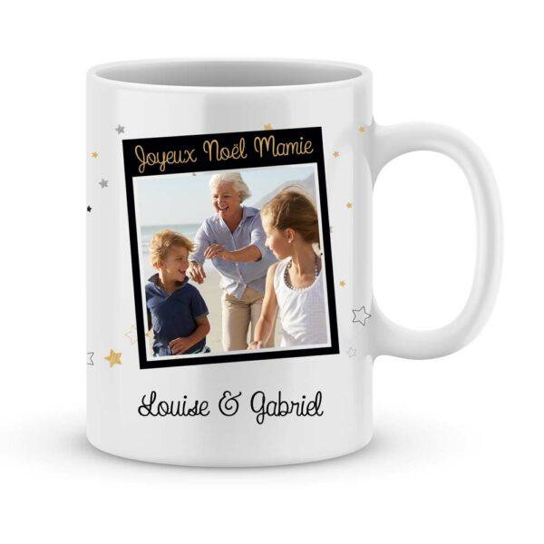 Cadeau joyeux noël mamie avec photo et prénom