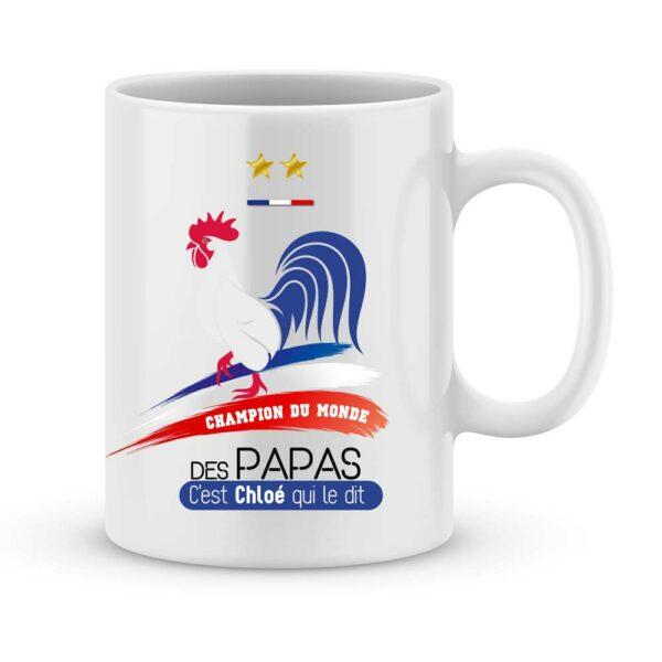 Mug personnalisé champion du monde des papas