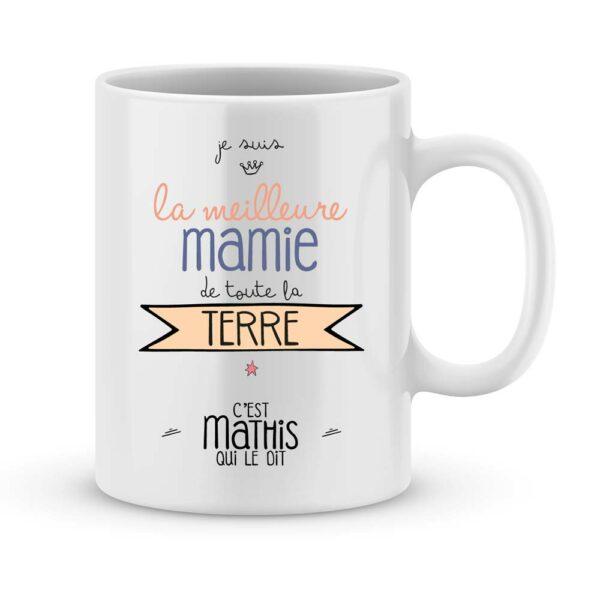 Cadeau mamie - Mug personnalisé meilleure mamie