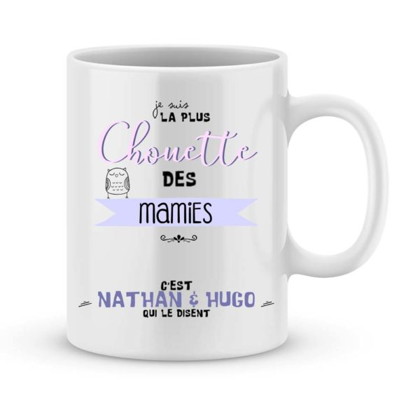 Cadeau mamie - Mug personnalisé chouette mamie