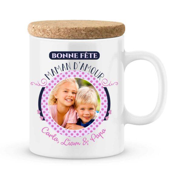Cadeau fête des mères | Mug personnalisé bonne fête maman d'amour